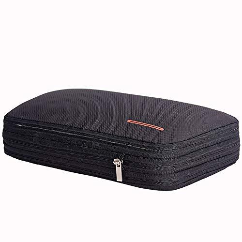 旅行圧縮バッグ ファスナー圧縮で50%衣類スペース節約 旅行 出張  整理 ...