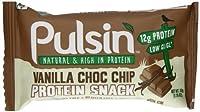 Vanilla Choc Chip Protein Snack - 50g by Pulsin' Snacks