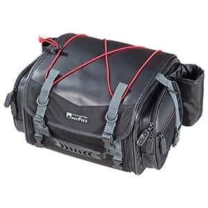 【Amazon.co.jp限定】タナックス(TANAX) ミニフィールドシートバッグ [19⇔27リットル] 合皮ブラック/レッド MFK-100R