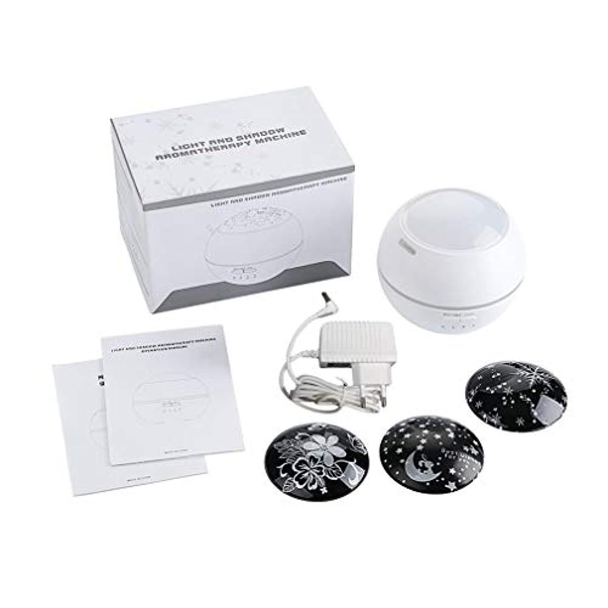 解決オンスマウス150Mlプロジェクター超音波空気清浄器の加湿器の精油の拡散器の白