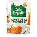 Only Organic Kumara Carrot & Coconut Rice 8+ Months - 170g