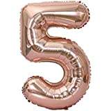 ケイ?ララ 風船 数字 バルーン アルミ風船 文字 [数字5] 100cm 40インチ 超ビッグサイズ BIG 誕生日 バースデー 結婚式 ウェディング パーティー イベント y1