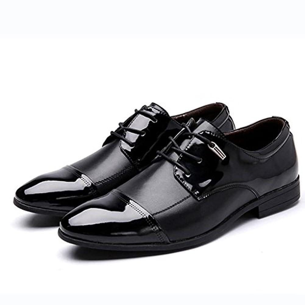 常習的和らげる黒[リョウピン]ビジネスシューズ メンズ 革靴 靴 紳士靴 レースアップ スクエアヒール ロングノーズ フォーマル ローカット 軽量 耐久 防臭 超大きいサイズ 27.5cm 28.0cm 28.5cm ブラウン 黒 ブラック