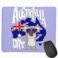 手描きオーストラリアデー マウスパッド 25×30 大判 ノンスリップ 防水 ゲーミング おしゃれ マウスの精密度を上がる