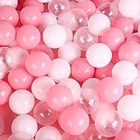 LEAGUE&COソフトピットボール 非毒性ポリエチレン プールボール 安全 カラーボール おもちゃボール 臭いなし 幼児用ボールピット/キッドプール/室内ベビーベビーサークル 多色 200個 直径約7cm (PWC)
