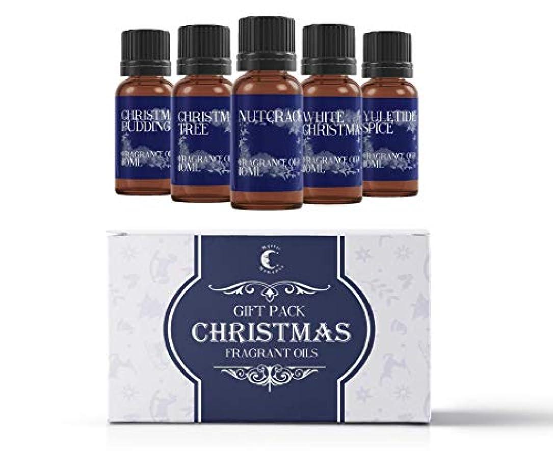 謙虚なスクラップとげMystic Moments   Fragrant Oil Starter Pack - Christmas Oils - 5 x 10ml