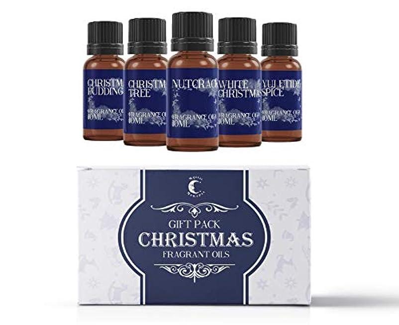 数学者マナー円形Mystic Moments | Fragrant Oil Starter Pack - Christmas Oils - 5 x 10ml