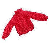 Lovoski  人形 かわいい ハイカラー セーター 1/4スケール  BJDドール適用 レッド