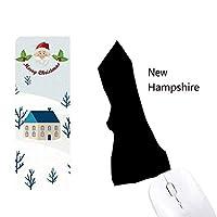 ニューハンプシャー州の米国のマップのシルエット サンタクロース家屋ゴムのマウスパッド