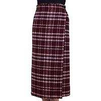 [TCC] 朝晩の冷えに最適 軽くて暖かい ほっとする巻スカート 膝掛け 巻きスカート 2WAY仕様 約85cm丈