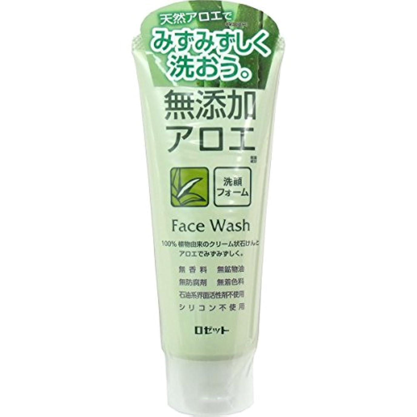 ビジターメジャー入口【ロゼット】無添加アロエ 洗顔フォーム 140g ×5個セット