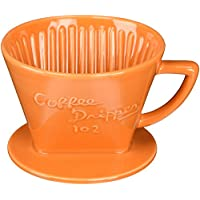 三洋産業 THREE FOR (スリーフォー) 深濾過層有田焼磁器ドリッパー 3~5杯用 オレンジ G-102OR