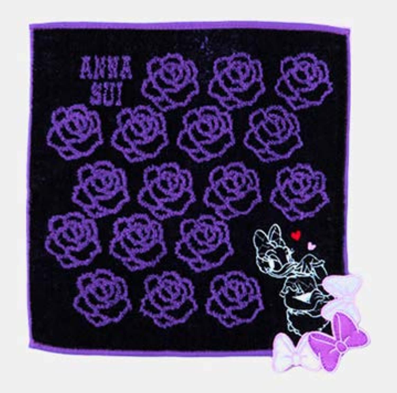 ANNA SUI 東京ディズニーリゾート限定 アナスイプロデュース デイジー柄 ミニタオル パープル おみやげ