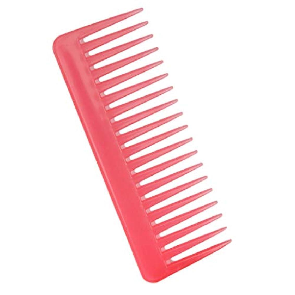 壊す接触しっかりP Prettyia 帯電防止櫛 ヘアケア ヘアブラシ サロン用 自宅用 ヘアコーム 3色選べ - ピンク