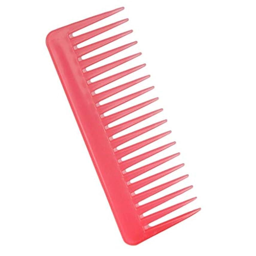 リフレッシュ計算可能連続した帯電防止櫛 ヘアケア ヘアブラシ サロン用 自宅用 ヘアコーム 3色選べ - ピンク