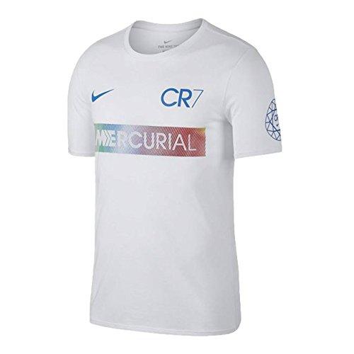 ナイキ(NIKE) RONALDO MERCURIAL S/S Tシャツ 882703 100 ホワイト M