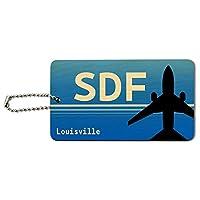 ルイビルケンタッキー州(SDF)空港コードウッドIDカード荷物タグ