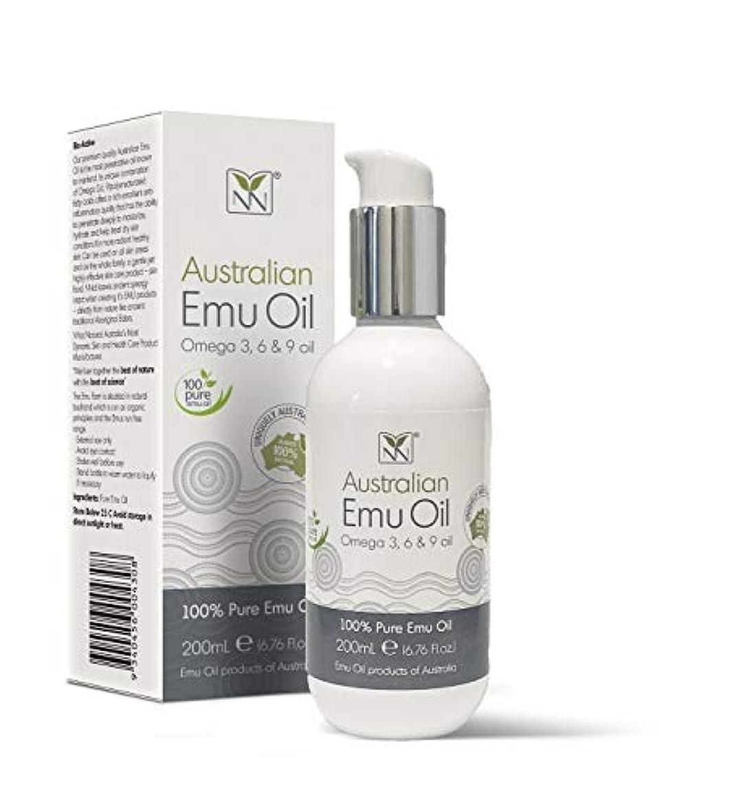 千強打粘着性Y Not Natural エミューオイル EMU OIL 無添加100% 保湿性 浸透性 抜群 プレミアム品質 エミュー油 (200 ml)