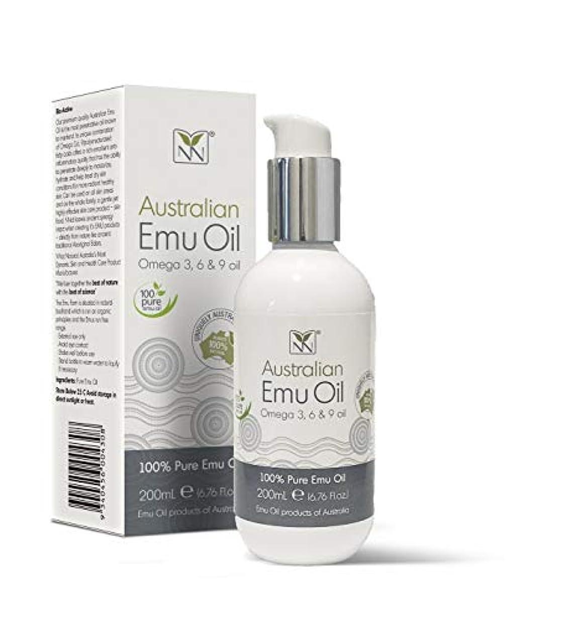 信頼性トラブル裏切りY Not Natural エミューオイル EMU OIL 無添加100% 保湿性 浸透性 抜群 プレミアム品質 エミュー油 (200 ml)