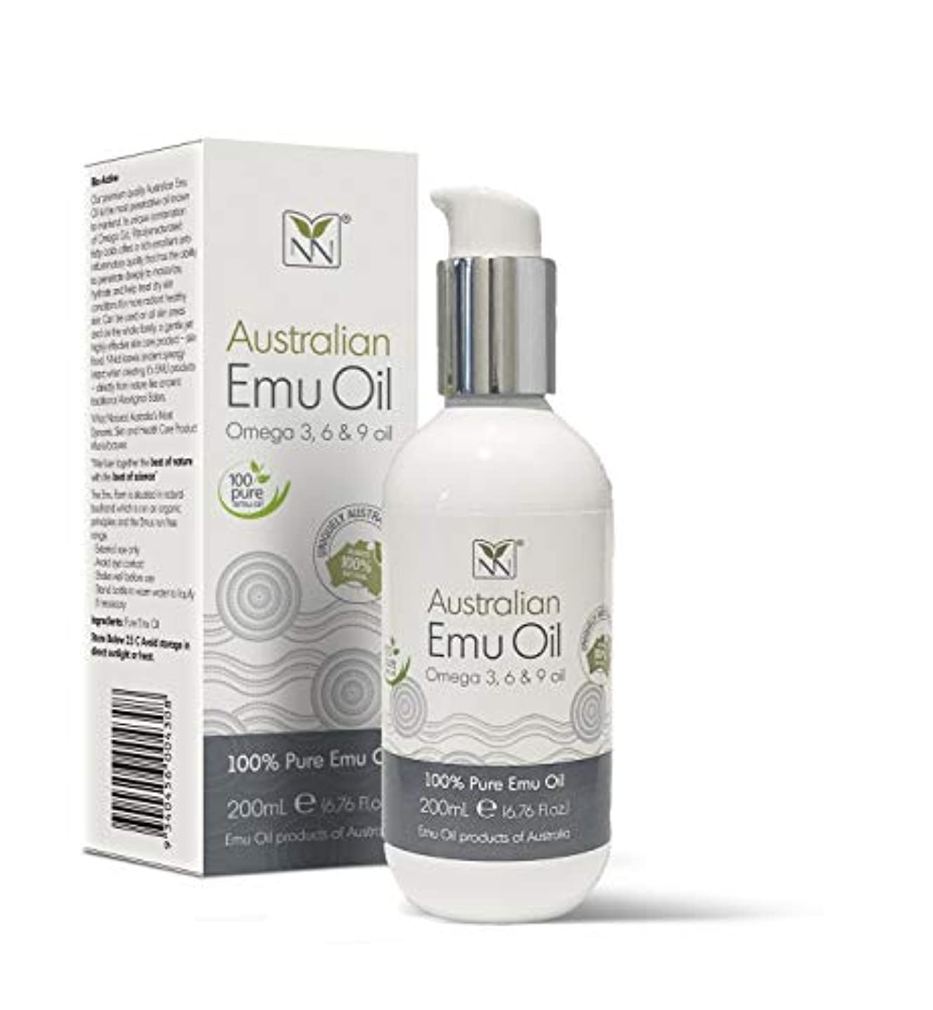 崇拝する有用勧告Y Not Natural エミューオイル EMU OIL 無添加100% 保湿性 浸透性 抜群 プレミアム品質 エミュー油 (200 ml)