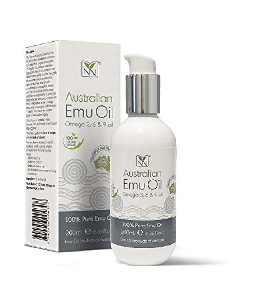 曖昧なグループバルセロナY Not Natural エミューオイル EMU OIL 無添加100% 保湿性 浸透性 抜群 プレミアム品質 エミュー油 (200 ml)