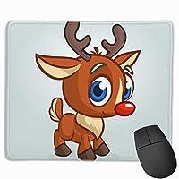 マウスパッド へらじか 子供 クリスマス グレー ゲーミング オフィス最適 おしゃれ 疲労低減 滑り止めゴム底 耐久性が良い 防水 かわいい PC MacBook Pro/DELL/HP/SAMSUNGなどに 光学式対応 高級感プレゼント Tartiny