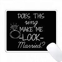 このリングは私に黒い背景の白い結婚式を見せますか PC Mouse Pad パソコン マウスパッド