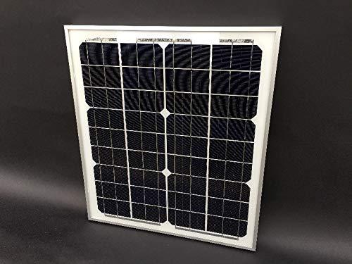 20W 単結晶 ソーラーパネル (高品質・高耐久・高発電効率...