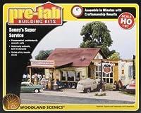 WOODLAND SCENICS PF5183 Sonny's Super Service Pre-Fab Building HO WOOU5183 by Woodland Scenics