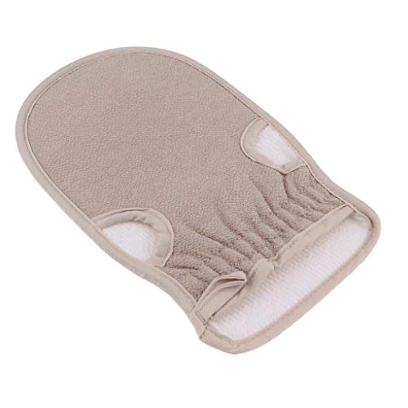 CUTICATE 浴用手袋 ボディタオル 垢すり手袋 バスグッズ 両面デザイン 毛穴清潔 角質除去 男女兼用 全4色 - グレー