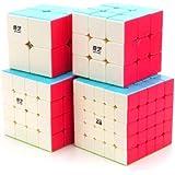 CuberSpeed Speedcubing Bundle Qidi S 2X2 & Warrior W 3X3 & Qiyuan S 4X4 & Qizheng S 5X5 Bright Set