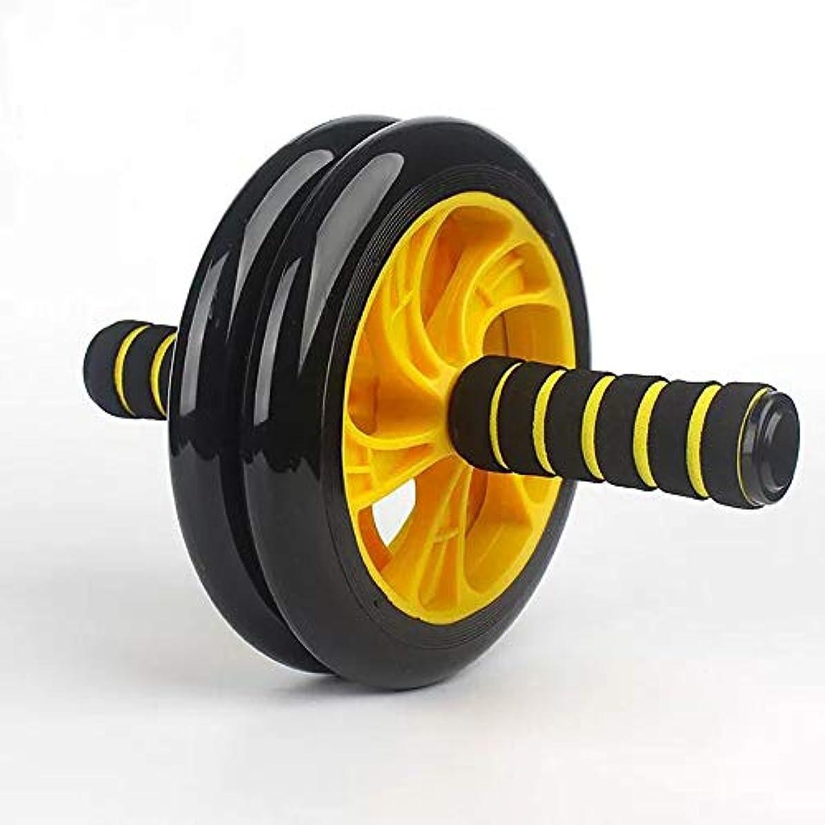聴く経歴与えるダブルウィールローラー ABホイール エクササイズローラー スリムトレーナー 2輪腹筋ローラー 腹筋ホイール 自宅トレーニング アブホイール 筋肉トレーニング