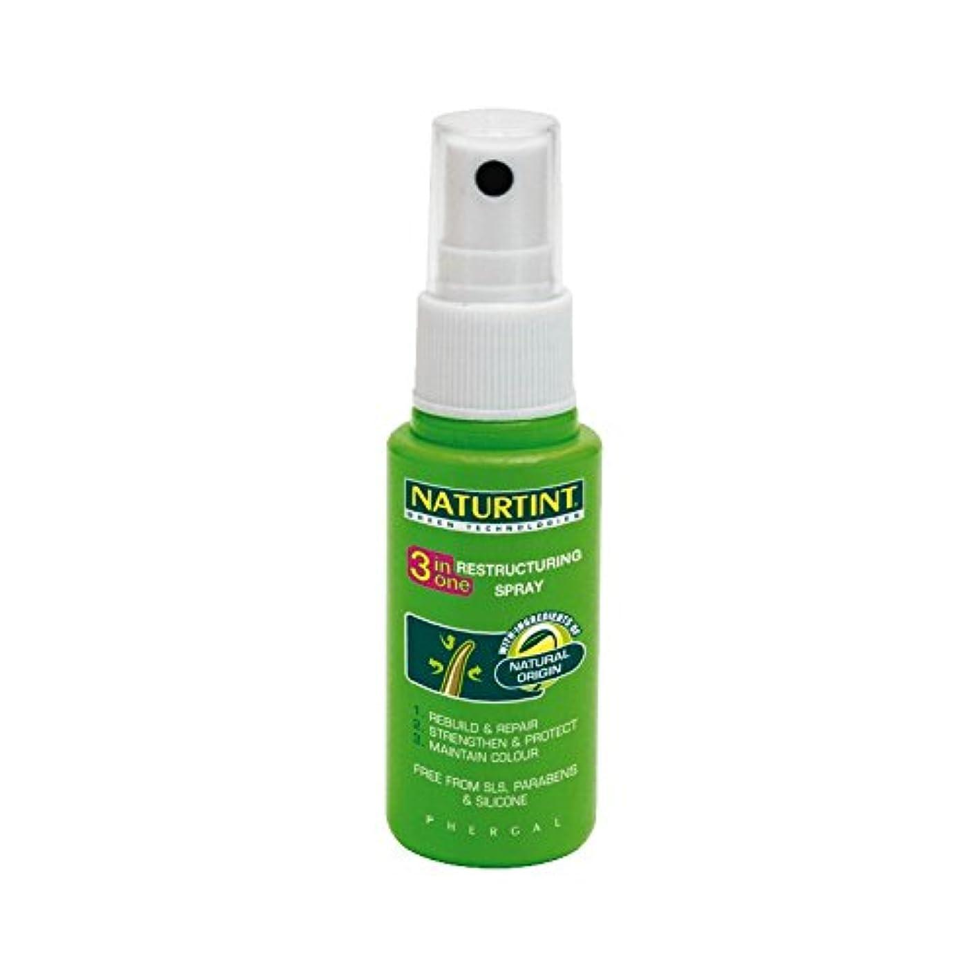ために事務所遺伝子Naturtint 3 in 1 Restructuring Spray (Pack of 2) - 1リストラスプレーでNaturtint 3 (x2) [並行輸入品]