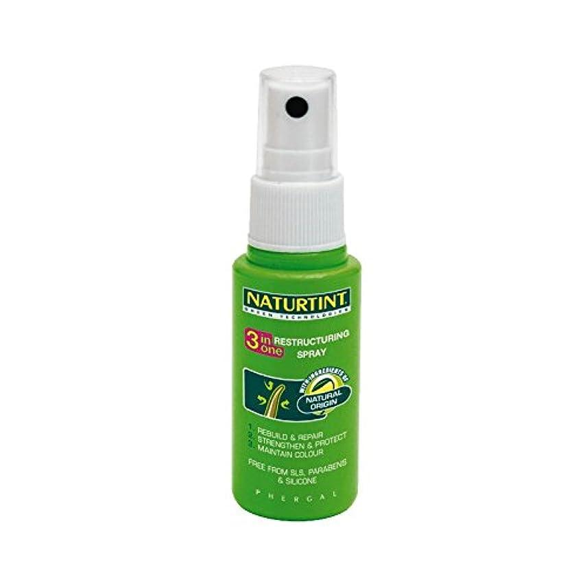 規則性舗装ポジション1リストラスプレーでNaturtint 3 - Naturtint 3 in 1 Restructuring Spray (Naturtint) [並行輸入品]