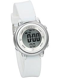 JewelryWe 可愛い ファション 子供腕時計 学生 スポーツウオッチ デジタル表示 多機能 5ATM防水 日付 曜日表示 アラーム ストップウオッチ [ホワイト]