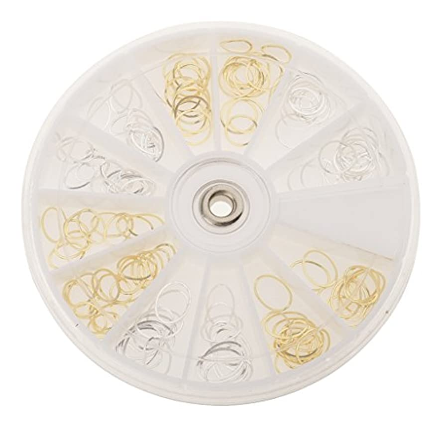 焦がす類推遊具DYNWAVE ロット3dゴールドシルバーデカールステッカーホイールラウンドマニキュアの装飾ネイルアートDIY