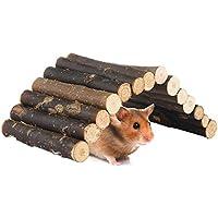 AWHAO ハムスター用品 かじり木はしご 飼育ケージ 遊び道具 運動不足解消 木製 木の香り 安全 M