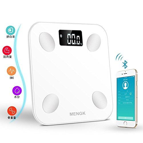 体脂肪計、MENGK 高精度 体重計&体組成計 個人的な健康...