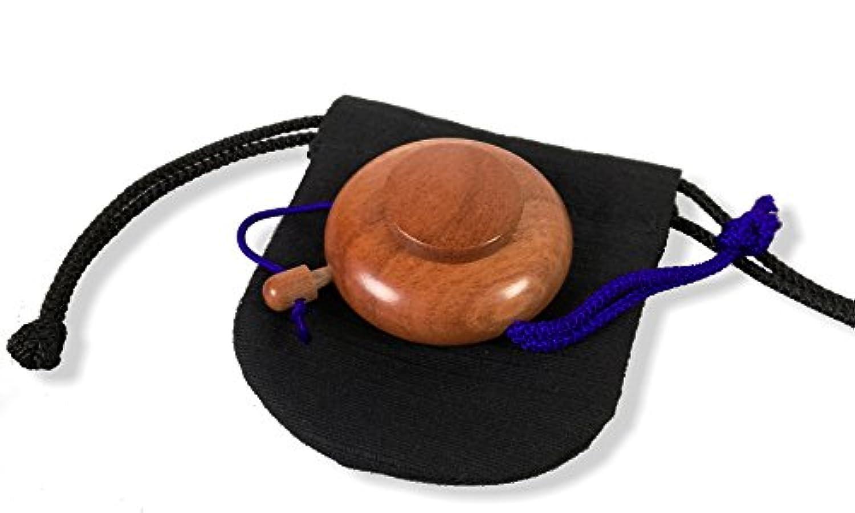 塗香入れ 桜 小(直径約 4.4cm) 塗香入れ袋(巾7cm×高さ8cm紬) 携帯用
