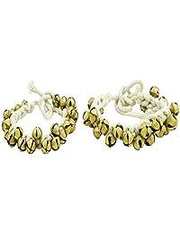 Banithani Antique Brass Kathak Ghungroo Classical Dancing Pair Anklets Bracelet Gift for Her