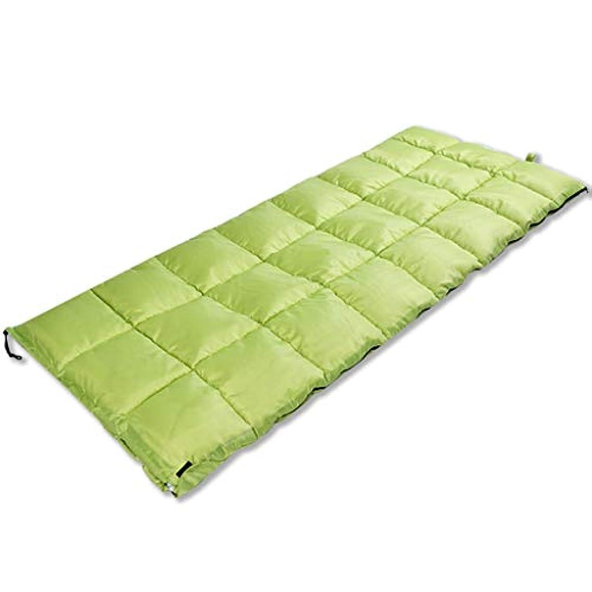 クッションいたずらな偉業CATRP 綿の寝袋フランネル大人の屋外のキャンプは暖かく保ちます (色 : Light green)