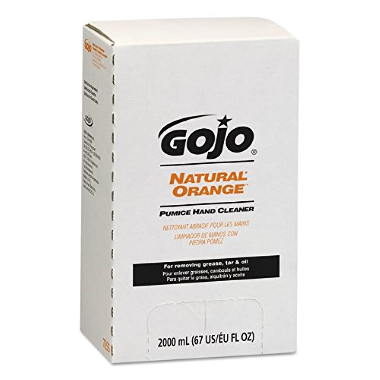 被害者楽な後ろ、背後、背面(部NATURAL ORANGE Pumice Hand Cleaner Refill, Citrus Scent, 2000 mL, 4/Carton (並行輸入品)