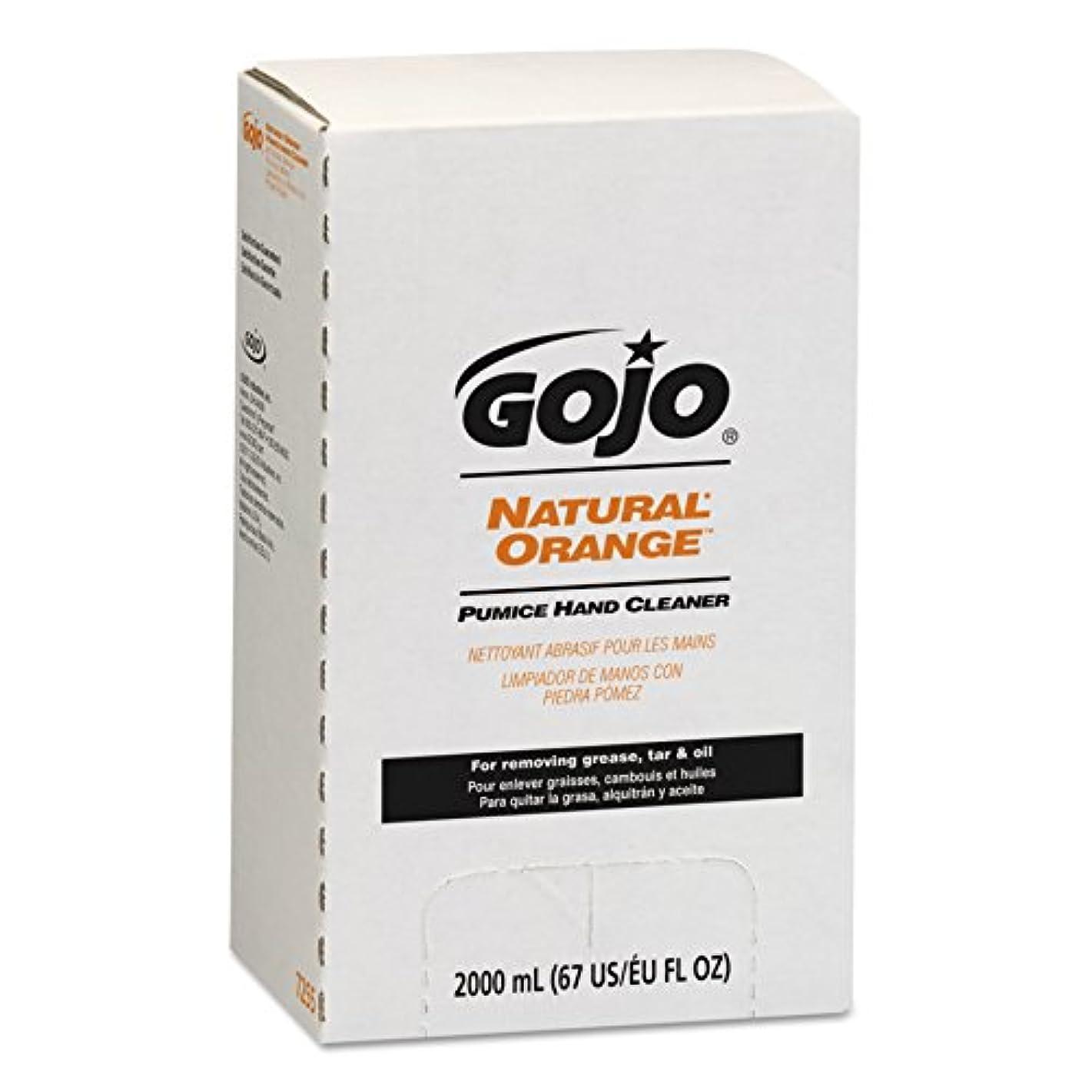 神秘委員長接触NATURAL ORANGE Pumice Hand Cleaner Refill, Citrus Scent, 2000 mL, 4/Carton (並行輸入品)