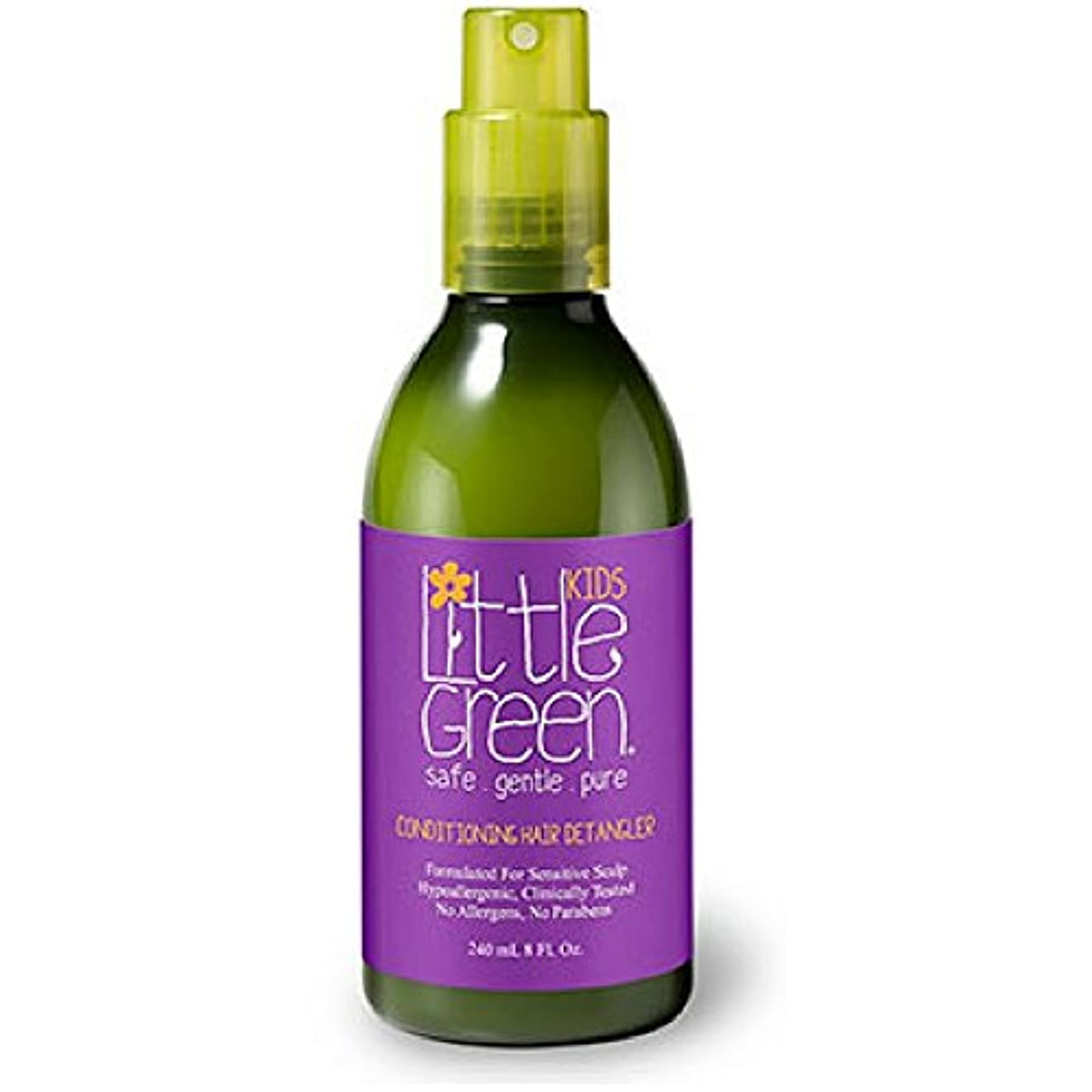 Little Green キッズコンディショニングDetangler - 子供Detanglerスプレー - 安全かつ非毒性 - 低刺激性 - - パラベンやグルテンフリー - ウェットまたはドライの髪に使用し臨床的に子供...