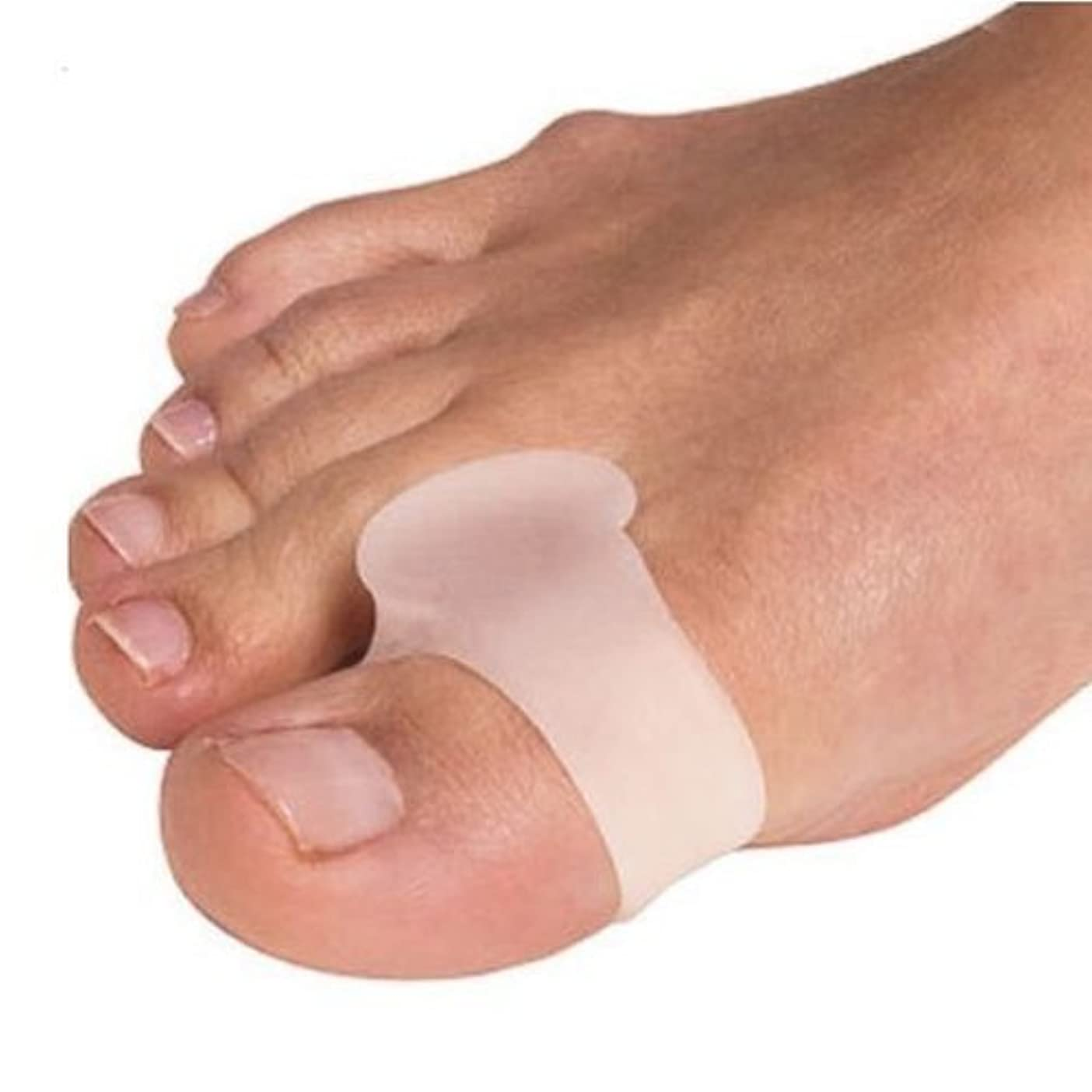 化学うなり声半ば外反母趾用足指スペーサー 固定リング付き(P27-M)