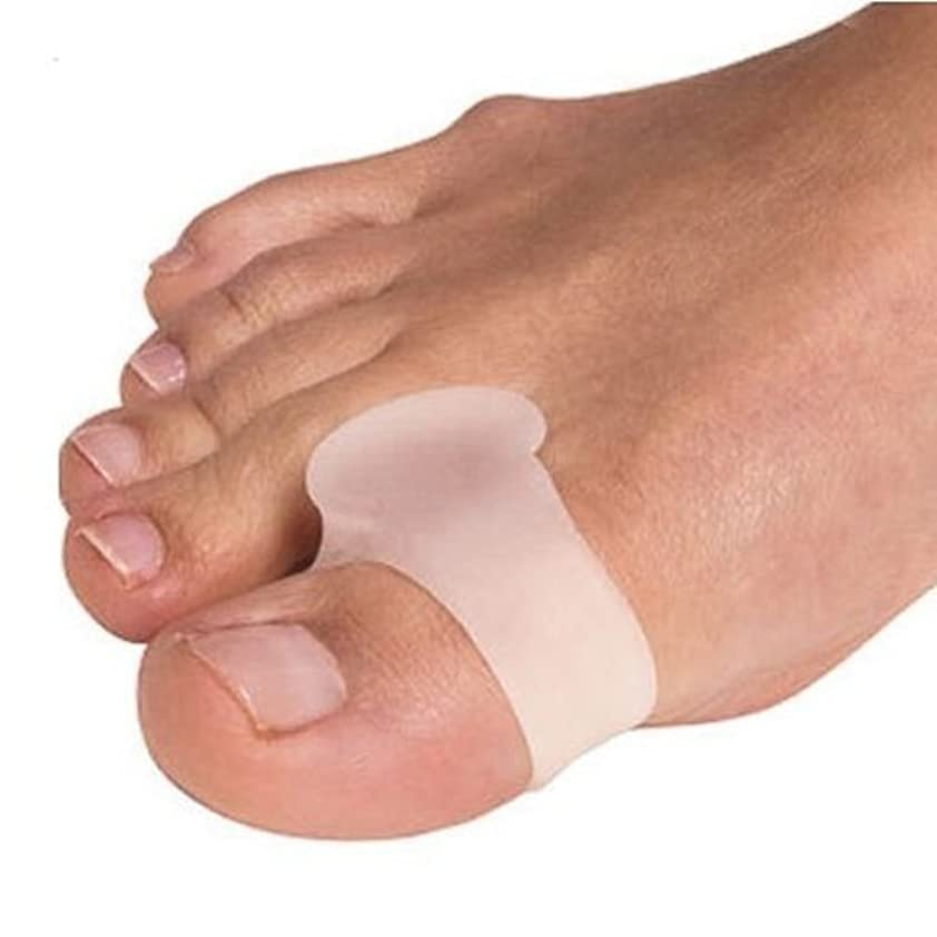 基本的な収入バング外反母趾用足指スペーサー 固定リング付き(P27-M)