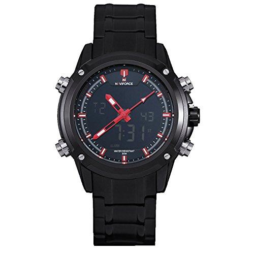 Zeiger メンズ腕時計 アナデジ表示 目覚まし時計 日付曜日表示 ELバックライト ストップウォッチ カレンダー 防水 多機能 LED メンズウォッチ ボーイズ 男の子 デジタル アナログ