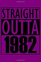 Straight Outta 1982 Notebook: Cornell Notes Journal - 6 x 9, 120 Pages, Gift For Music Lover, Purple Matte Finish