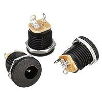Prament ポーレックス dc-022 5.5-2.1 mm 丸穴ねじナット dc 電源ソケット ROHS 指令内蔵ジャックコネクタ