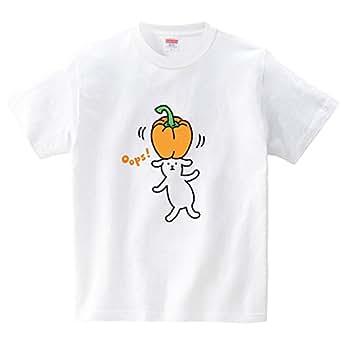 ハテナポップ パプリカおっと!(Tシャツ・ホワイト)(Sサイズ) (tsukamotojunko)